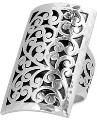 Lois Hill - Decorative Scroll Large Statement Ring In Sterling Silver - Lyst