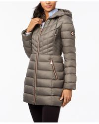 Bernardo - Quilted Hooded Puffer Coat - Lyst