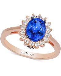 Le Vian - Tanzanite (1 Ct. T.w.) And Diamond (1/3 Ct. T.w.) Ring In 14k Rose Gold - Lyst