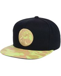 release date fb57a 77a56 Nba Xl Logo Snapback Cap.  32. Macy s · Mitchell   Ness - Minnesota  Timberwolves Natural Camo Snapback Cap - Lyst