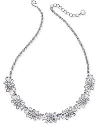 Charter Club | Clear & Colored Crystal Necklace | Lyst