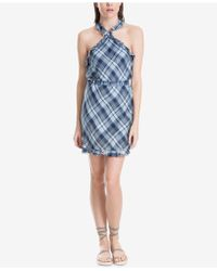 Max Studio - Ruffle-trim Belted Halter Dress, Created For Macy's - Lyst