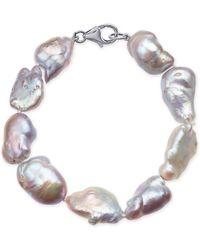 Macy's - Cultured Baroque Freshwater Pearl (11-14mm) Bracelet - Lyst
