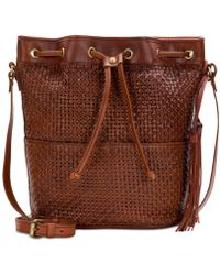 Patricia Nash - Woven Evora Drawstring Medium Satchel - Lyst