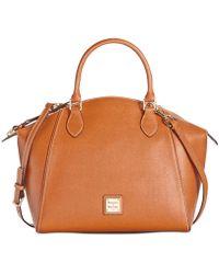 Dooney & Bourke - Sydney Saffiano Leather Satchel - Lyst