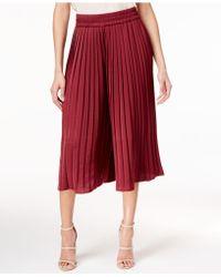 Olivia & Grace - Pleated Culotte Pants - Lyst