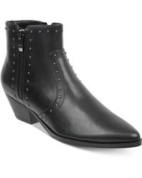 Marc Fisher - Wanida Studded Western Booties - Lyst