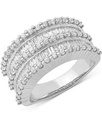Macy's - Diamond Multi-row Statement Ring (1-1/2 Ct. T.w.) In 14k White Gold - Lyst