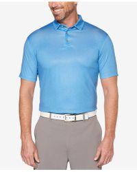 PGA TOUR - Herringbone-print Golf Polo - Lyst