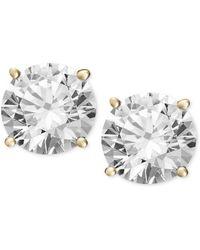 Macy's - Diamond Stud Earrings In 14k White Or 14k Gold (3/8 Ct. T.w.) - Lyst