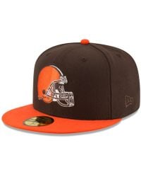 buy popular 9e236 614c6 KTZ Cleveland Browns Wowie Visor in Brown for Men - Lyst