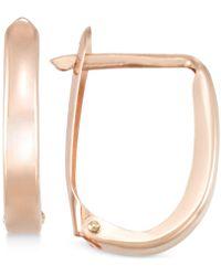 Macy's - Polished U-hoop Earrings In 10k Gold - Lyst