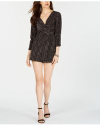 19 Cooper - Metallic Twisted Romper - Lyst