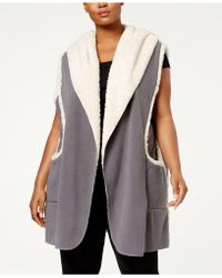 Hue - Plus Size Sleeveless Hooded Robe - Lyst