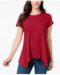 Style & Co. - Handkerchief-hem T-shirt, Created For Macy's - Lyst