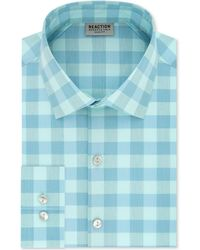 Kenneth Cole Reaction - Slim-fit Performance Stretch Moisture-wicking Non-iron Check Dress Shirt - Lyst