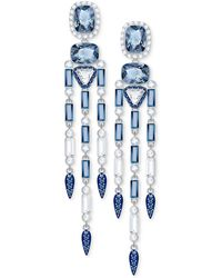Lyst swarovski silver tone clear color crystal chandelier swarovski silver tone clear color crystal chandelier earrings lyst aloadofball Image collections