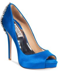 Badgley Mischka - Kiara Platform Evening Court Shoes - Lyst