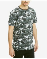Kenneth Cole Reaction - Men's Big Palm Printed Henley - Lyst