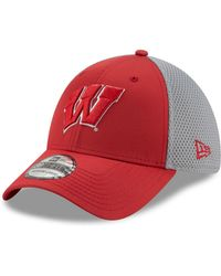 newest 687b8 97d72 KTZ Wisconsin Badgers 2-tone Graphite And Team Color 59fifty Cap in Gray for  Men - Lyst