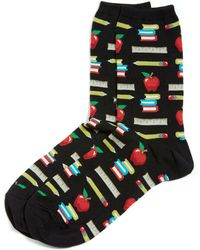 Hot Sox - Teacher's Pet Crew Socks - Lyst