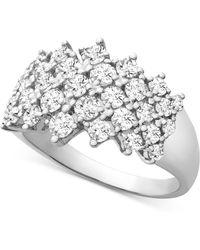 Wrapped in Love - Tm Diamond Honeycomb Ring (1-1/2 Ct. T.w.) In 14k White Gold, Created For Macy's - Lyst