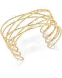 INC International Concepts - Gold-tone Crisscross Cuff Bracelet - Lyst