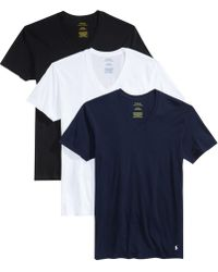 08cac6e13 Lyst - Polo Ralph Lauren Classic-Fit V-Neck T-Shirt in Blue for Men