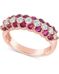 Macy's - Certified Ruby (1-5/8 Ct. T.w.) And Diamond (5/8 Ct. T.w.) Ring In 14k Rose Gold - Lyst