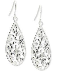 Giani Bernini - Filigree Teardrop Drop Earrings In Sterling Silver, Created For Macy's - Lyst