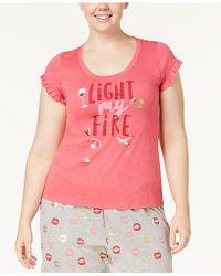 Hue | Light My Fire Plus Size Ruffled-sleeve Pajama Top | Lyst