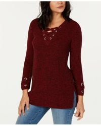 Style & Co. - Petite Lace Up Tunic, Created For Macy's - Lyst