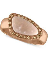 RACHEL Rachel Roy - Rose Gold-tone Pavé & Pink Stone Ring - Lyst