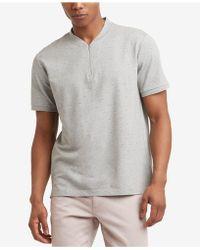 Kenneth Cole Reaction - Quarter Zip T-shirt - Lyst