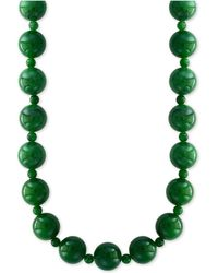"""Effy Collection Effy® Jade (4 & 10mm) Bead 20"""" Statement Necklace - Green"""