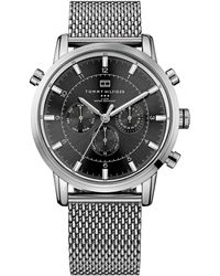 Tommy Hilfiger - Watch, Men's Stainless Steel Mesh Bracelet 44mm 1790877 - Lyst