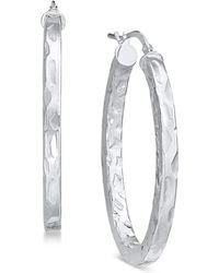 Giani Bernini - Textured Hoop Earrings, Created For Macy's - Lyst