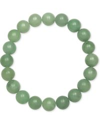 Macy's - Dyed Jade Stretch Bracelet (10mm) - Lyst