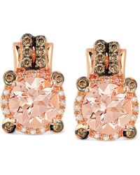 Le Vian - Morganite (1-3/4 Ct. T.w.) And Diamond (1/4 Ct. T.w.) Earrings In 14k Rose Gold - Lyst