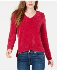 Maison Jules - V-neck Chenille Sweater, Created For Macy's - Lyst