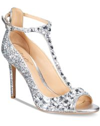 Badgley Mischka - Conroy T-strap Evening Sandals - Lyst