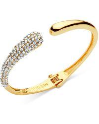 Anne Klein - Pavé Hinged Cuff Bracelet - Lyst