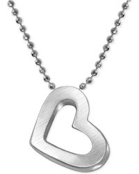 Alex Woo - Heart Beaded Chain Pendant Necklace In Sterling Silver - Lyst