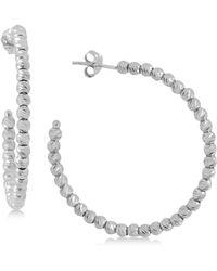 Giani Bernini | Beaded Hoop Earrings In 18k Gold-plated Sterling Silver, Created For Macy's | Lyst