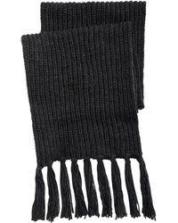 Steve Madden - Chunky-knit Fringed Scarf - Lyst