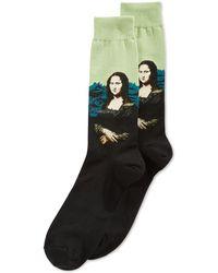 Hot Sox - Men's Mona Lisa Crew Socks - Lyst