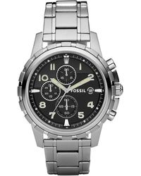 Fossil - Chronograph Dean Stainless Steel Bracelet Watch 45mm - Lyst