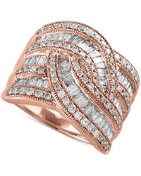 Effy Collection | Diamond Wide-style Ring (1-1/2 Ct. T.w.) In 14k Gold Or White Gold | Lyst