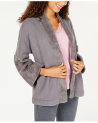 INC International Concepts - I.n.c. Sherpa Cosy Open-front Sleep Top, Created For Macy's - Lyst