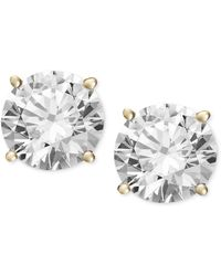 Macy's - Diamond Stud Earrings (3/4 Ct. T.w.) In 14k White Gold Or Gold - Lyst